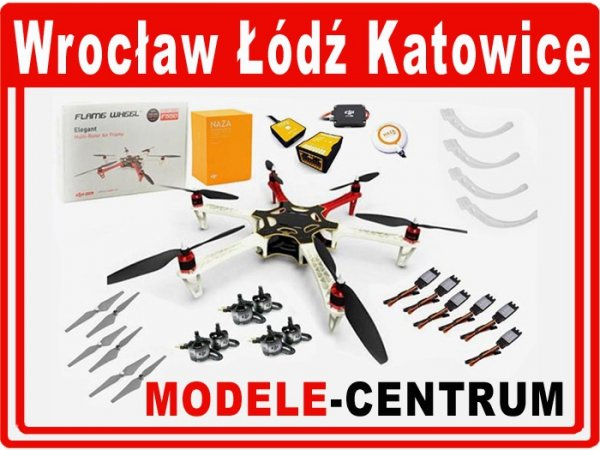 DRON Hexacopter DJI F550 + Naza-M V2 + GPS + E305 (do złożenia)