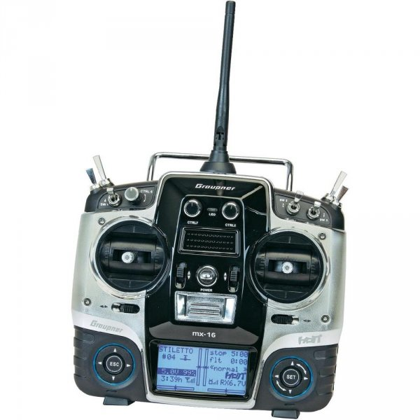 Aparatura GRAUPNER MX-16 HOTT - telemetria