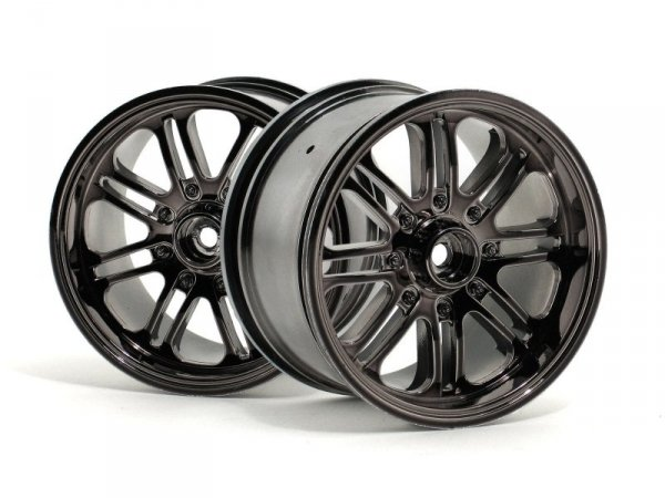 8 SPOKE WHEEL BLACK CHROME  - komplet felg