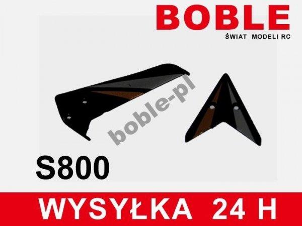 Lotki tylne + smigło  S800G czarne