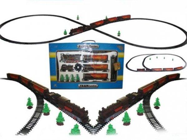 Duża Kolejka Elektryczna Parowóz Fenfa 10m Torów + Wagony