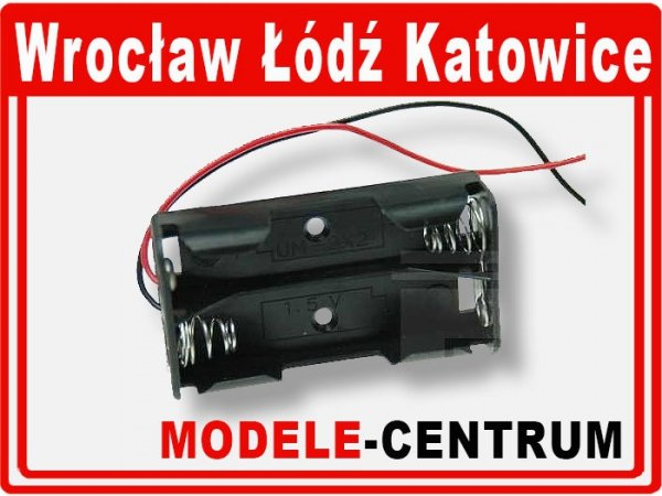 Koszyk na baterie R6x2 BC203_ +kabel AA*2; 03516
