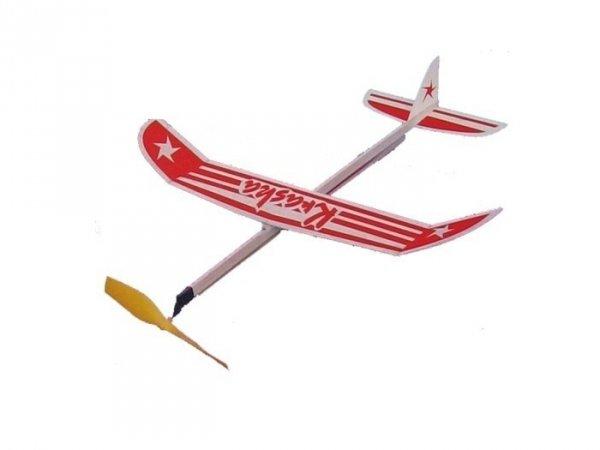 Samolot KRASKA z napędem gumowym-na gumke