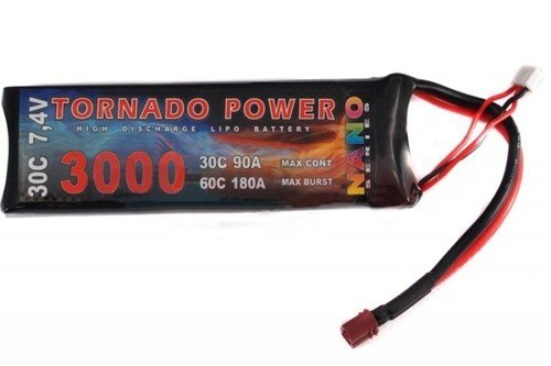 Akumulator Tornado Power 7.4V 3000 mAh 30C