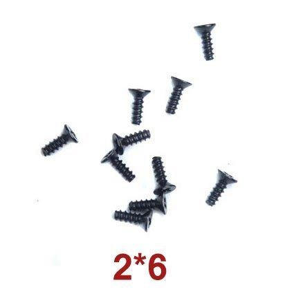 Śrubki 10szt Countersunk Head Tapping Screws 2x6