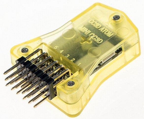 CC3D OpenPilot ATOM - w obudowie, Boczne Piny