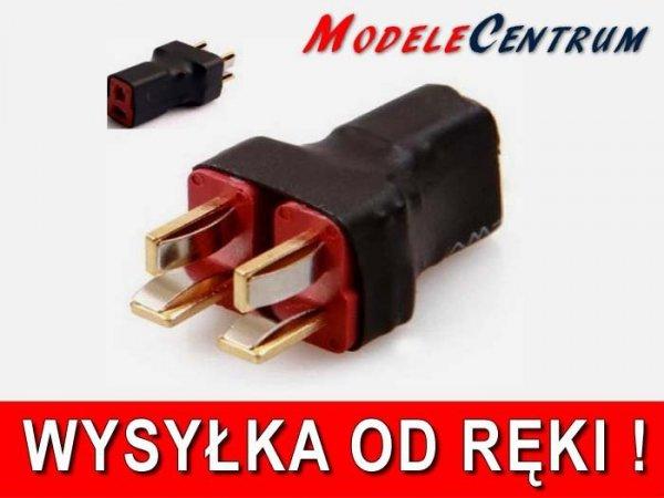 Przejście - DEAN (żeńskie) na 2xDEAN (meskie) - krótkie - do równoległego łączenia akumulatorów