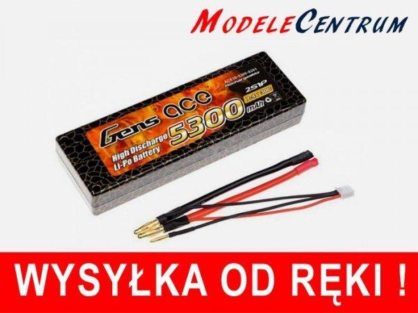 Gens Ace 5300mAh 7.4V 30C 2S1P Hard Cas Akumulator
