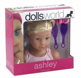 Głowa do stylizacji Ashley z akcesoriami