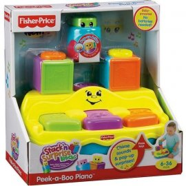 FISHER PRICE V6940 PIANINKO Z KLOCKAMI