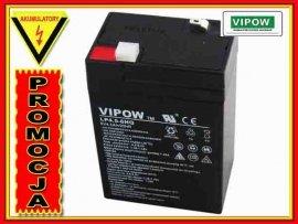 BAT0202 Akumulator żelowy VIPOW 6V 4.5Ah HQ