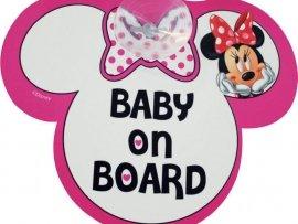 Tabliczka Z Przyssawką - Baby On Board - Minnie