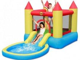 Dmuchaniec Happyhop Bouncy Castle With Pool Slide Zamek Dmuchany Zjeżdżalnia, Trampolina