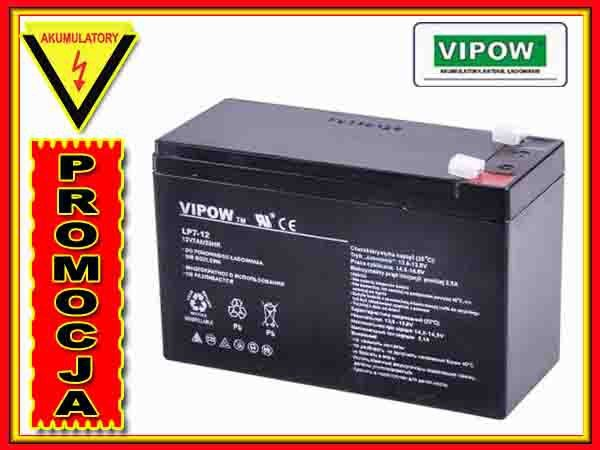BAT0211 Akumulator żelowy VIPOW 12V 7.0Ah