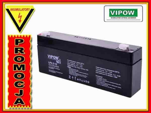 BAT0220 Akumulator żelowy VIPOW 12V 2.2Ah