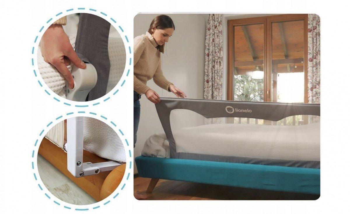Lionelo Barierka Do łóżka Hanna 66 X 150 Cm 0m Akcesoria