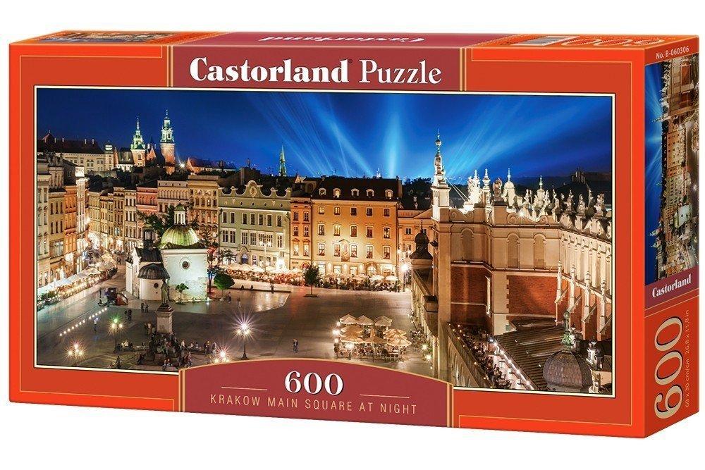 Castor 600 El Rynek Krakowa Nocą Puzzle Panorama 9 Do 999 El