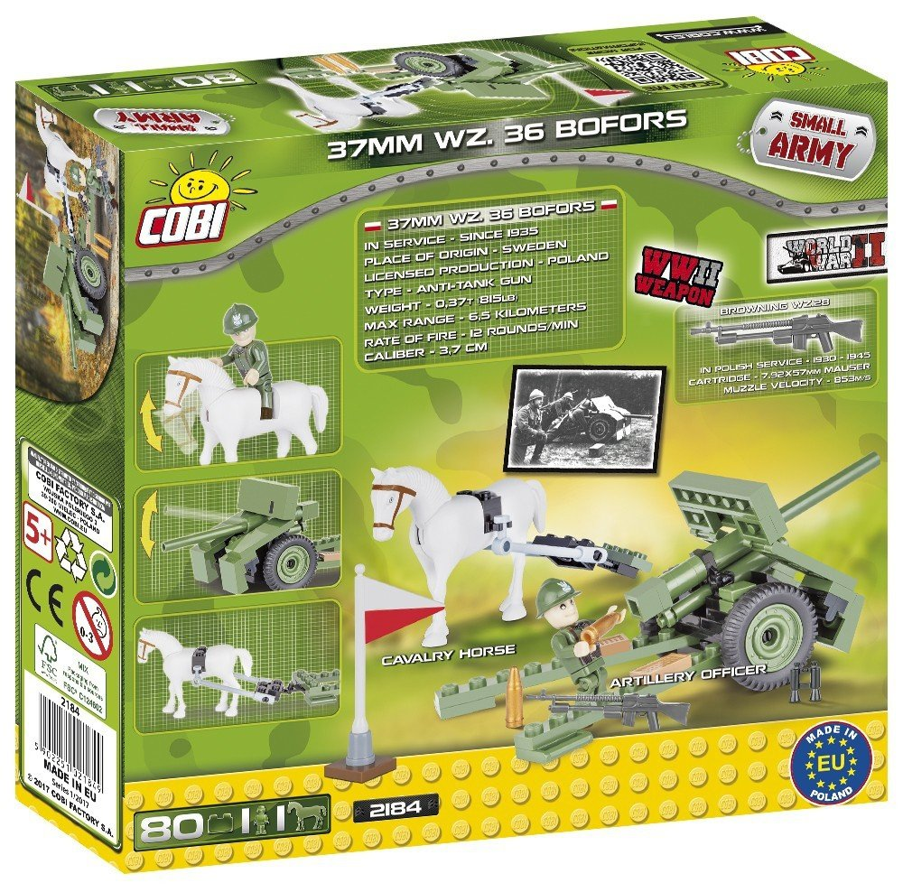 Cobi Klocki Armia Bofors 2184 5 Mała Armia Cobi Klocki