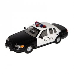 WELLY FORD CROWN VICTORIA 1999 CZARNO-BIALY SKALA 1:24