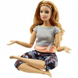 MATTEL LALKA BARBIE MADE TO MOVE RUDA FTG84 3+
