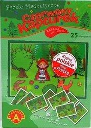 ALEXANDER PUZZLE MAGNETYCZNE CZERWONY KAPTUREK 25 EL. 4+