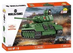 COBI KLOCKI ARMIA WORLD OF TANKS T34/85 3005A 8+