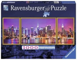 RAVENSBURGER 1000 EL. NEW YORK TRYPTYK PANORAMA PUZZLE 14+