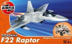 AIRFIX MODEL PLASTIKOWY QUICKBUILD F-22 RAPTOR 5+