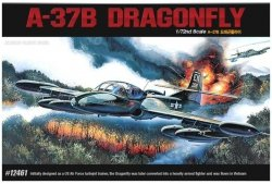 ACADEMY A-37B DRAGON FLY 12461 SKALA 1:72