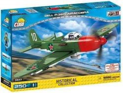 COBI HISTORICAL COLLECTION 250 EL. BELL P-39Q AIRACOBRA - AMERYKAŃSKI SAMOLOT MYŚLIWSKI 5547 6+