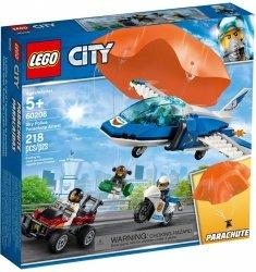 LEGO CITY ARESZTOWANIE SPADOCHRONIARZA 60208 5+