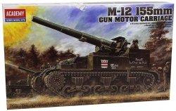 ACADEMY M-12 155MM GUN MOTOR CARRIAGE SKALA 1:35