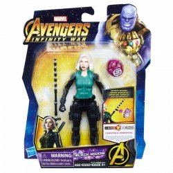 HASBRO AVENGERS INFINITY WAR BLACK WIDOW 15CM E1411 4+