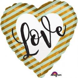 AMSCAN BALON FOLIOWY SERCE LOVE 3+
