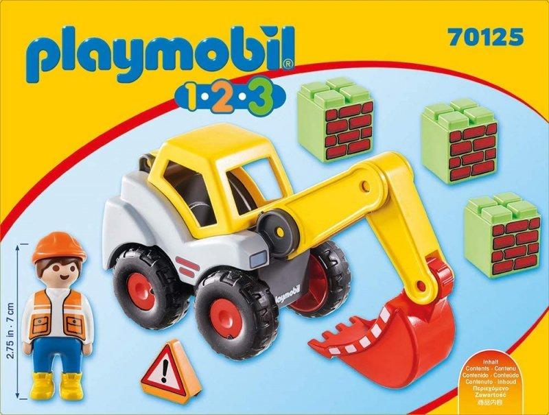 PLAYMOBIL 1-2-3 KOPARKA 70125 18M+