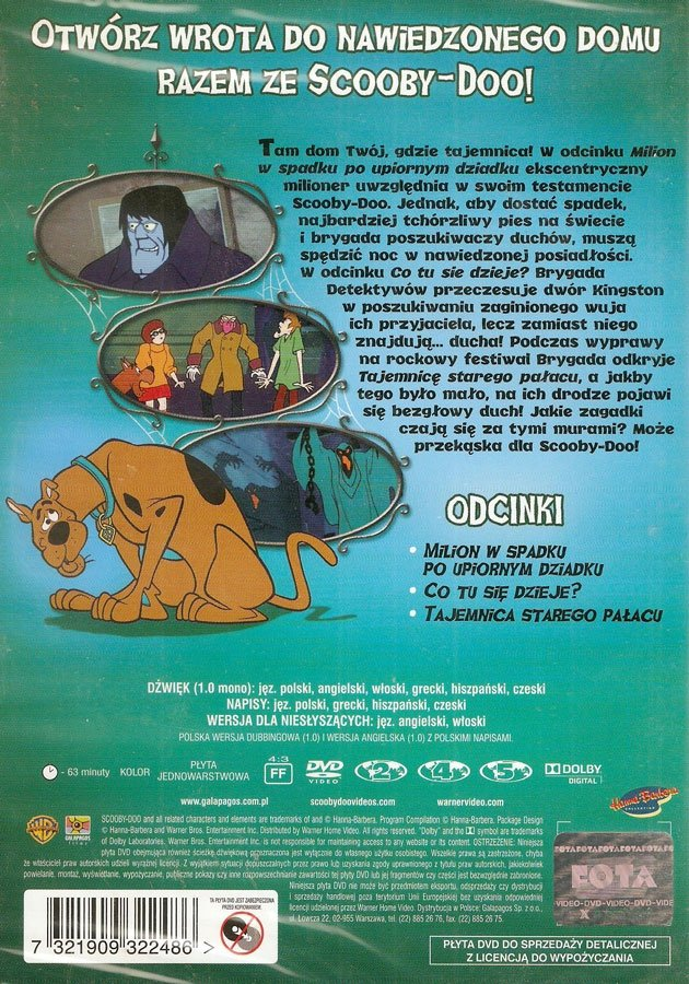 SCOOBY-DOO I NAWIEDZONY DOM (Scooby-Doo and the Haunted House) (DVD)