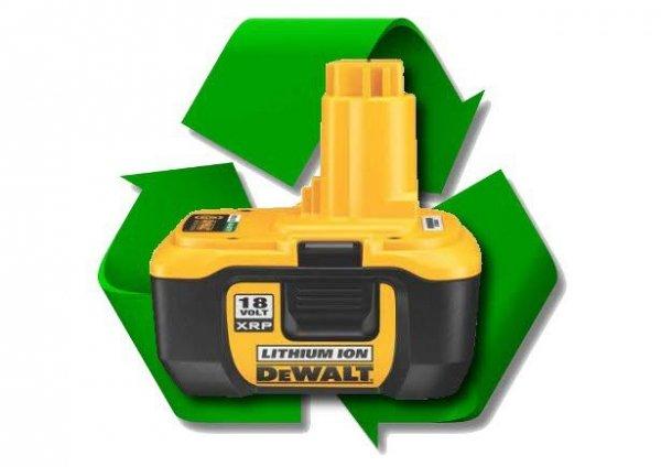 regeneracja akumulatora DeWalt DE9180 18V 2.0Ah