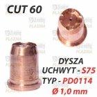DYSZA PLAZMY PD0114  Ø 1,0 mm - UCHWYT S75 / CUT 60