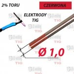 WT20 ELEKTRODA TIG CZERWONA Ø 1,0 mm