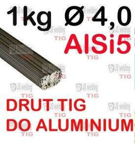 DRUT TIG AlSi5 DO ALUMINIUM  Ø 4,0 mm