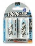 1x2 Ansmann NiMH Akku 10000 Mono D 9300 mAh