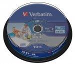 1x10 Verbatim BD-R Blu-Ray 25GB 6x Speed DL Wide Printable CB