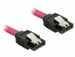 Delock Kabel SATA prosty/prosty red 10cm - 6Gb/s