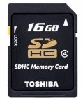 Toshiba SDHC Card Class 4 16GB High Speed Standard