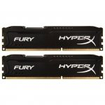 Kingston HyperX DIMM 8 GB DDR3-1600 Kit HX316C10FBK2/8, Fury-Serie