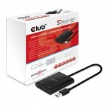 Club3D Adapter USB 3.1 Typ A > 2x HDMI 2.0 4K@60Hz akt.męski/żeński retail