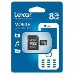 Lexar microSDHC 8GB with SD Adapter Class 10