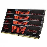 G.Skill 64 GB DDR4-2400 Quad-Kit, F4-2400C15Q-64GIS, Aegis