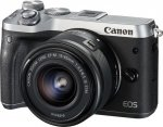Canon EOS M6 Kit silver + EF-M 3,5-6,3/15-45 IS STM