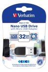 Verbatim NANO OTG USB-Stick 32 GB inkl. Micro-USB-Adapter